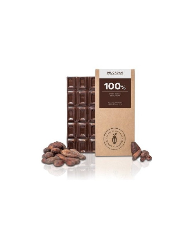 "Tableta de Chocolate 100% s/Azucar 50gr. ""Dr Cacao"""