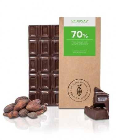 "Tableta de Chocolate 70% 50gr. ""Dr Cacao"""