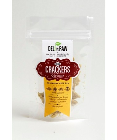 "Crackers de Curcuma "" Deli & Raw """